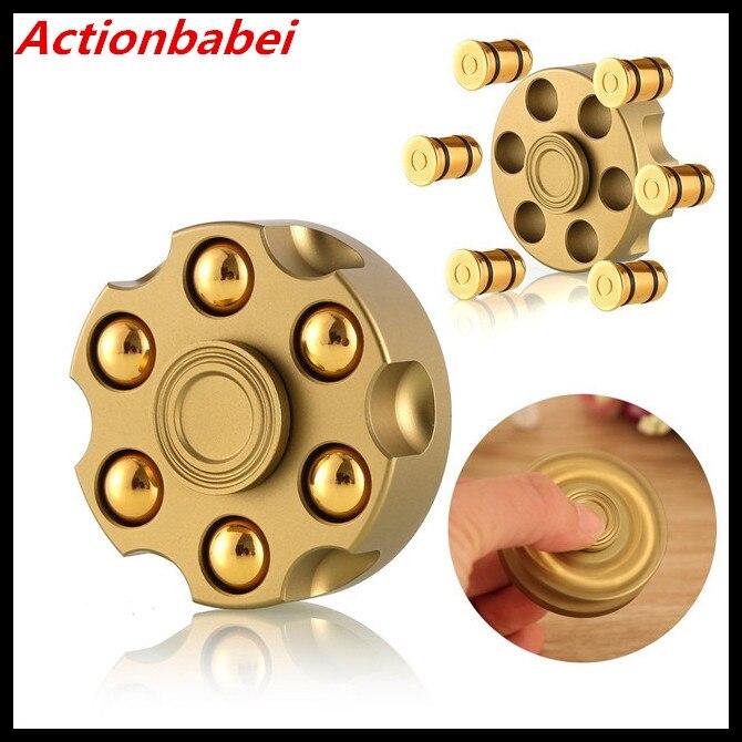 Toys & Hobbies Humorous Actionbabei New Creative Revolver Bullet Brass Hand Spinner Tri Fidget Steel Ball Desk Toy Edc Kids/adult Stress Relief Toy