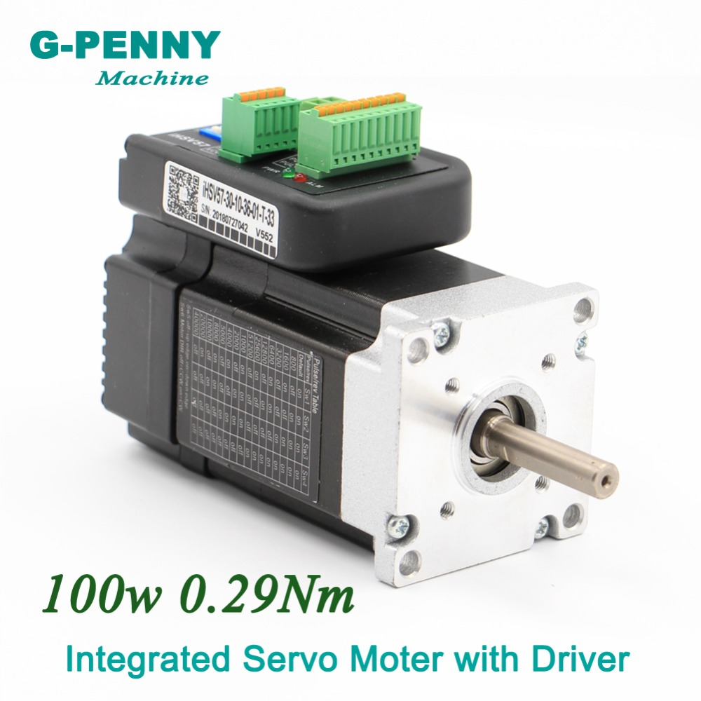 Free Shipping Integrated Servo Motor with Driver 100w 36VDC 41Oz in 3000rpm 0 29Nm 6 0A