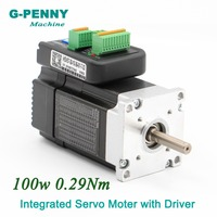 Free Shipping! Integrated Servo Motor with Driver 100w 36VDC 41Oz in 3000rpm 0.29Nm 6.0A Mini Servo Motor with driver