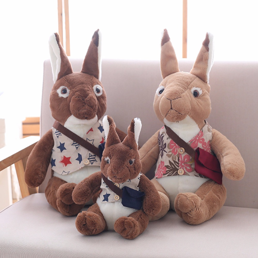 2018 1pc 25cm Cute Rabbit with Backpack Plush Toys Staffed Kawaii Animal Dolls Kids Lovely Gift Girls Birthday Brinquedos