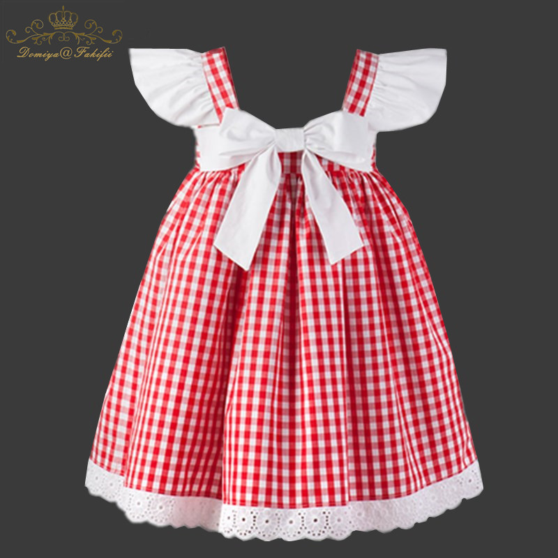 2018 Fashion Summer Hot Baby Girl Party Princess Cotton Plaid Dresses For Kids Clothing Children Vestidos Disfraz Infantil Festa muqgew new fashion 2018 children party