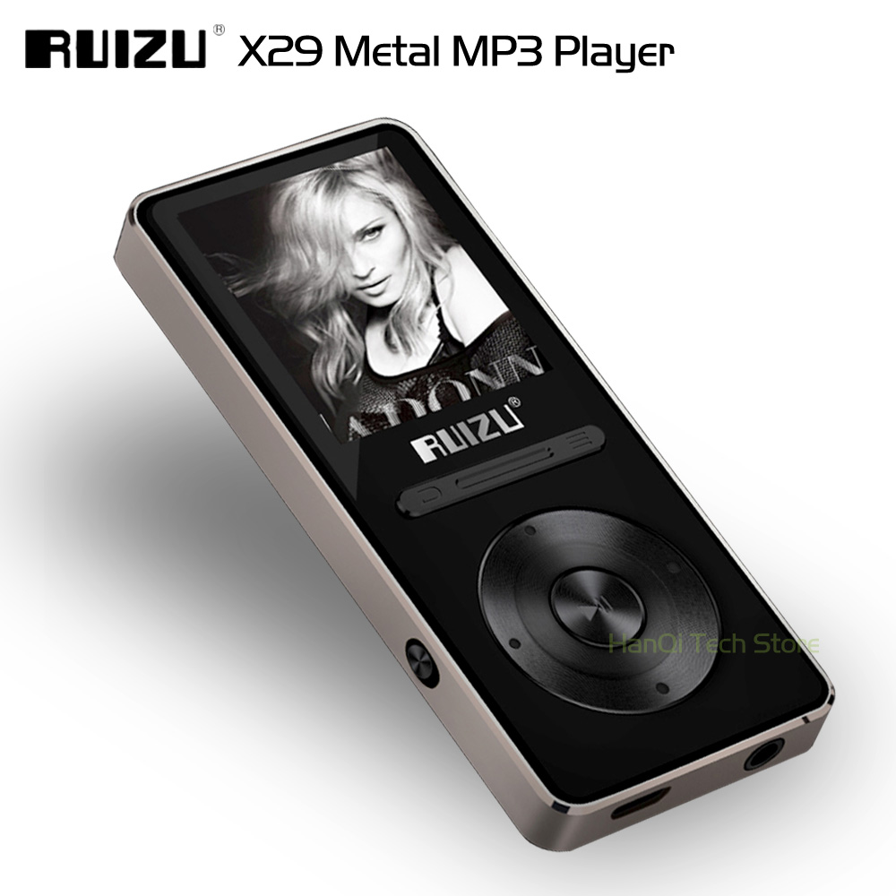 New Arrive Aluminum Alloy Ultrathin Original RUIZU X29 8GB MP3 Player With 1.8 Inch Screen Play 30 Hours With FM Support E-Book