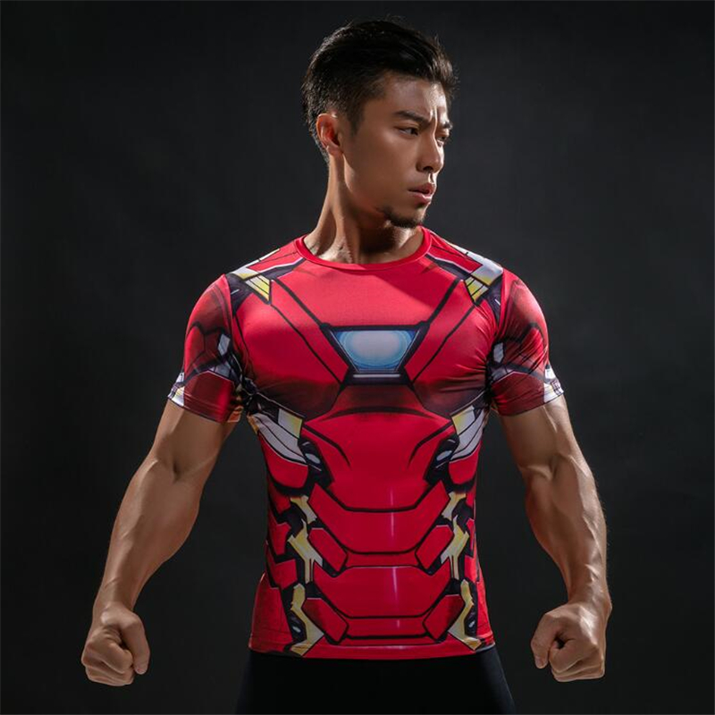 Brand American Captain 3D Digital printing T-Shirt