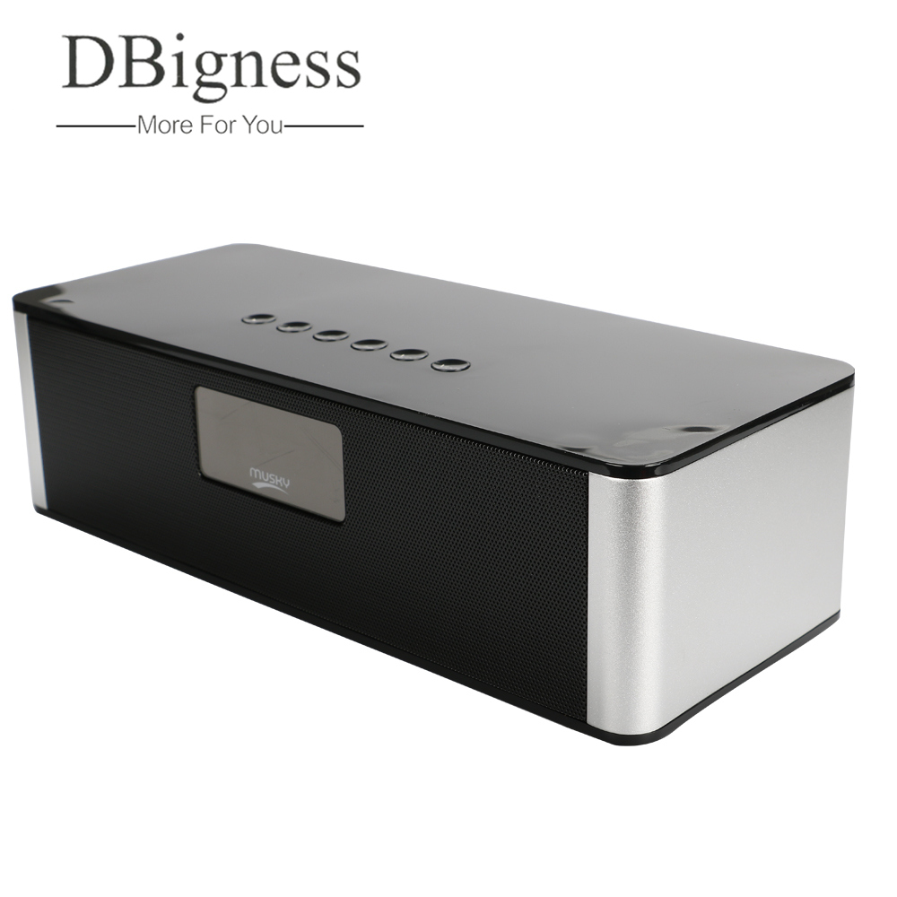 Dbigness Wireless Bluetooth Speaker with Alarm Clock Portable Strong bass Stereo SpeakerS Audio Output for Computer Mobile Phone