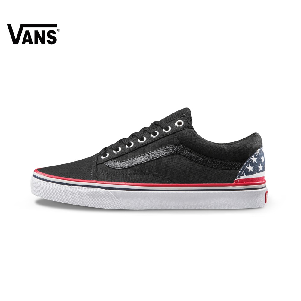 все цены на  Original Vans Black Old Skool Unisex Skateboarding Shoes Sports Shoes Sneakers  онлайн