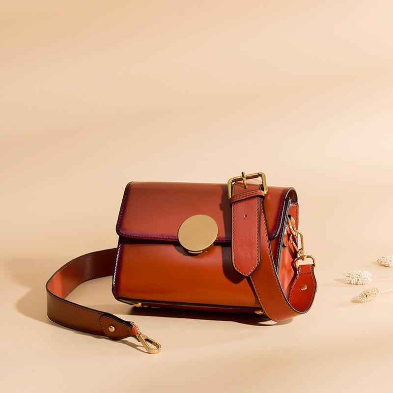 MANSURSTUDIOS Women Saddle Bags Independent Design Split Leather Single Shoulder Square Bag Crossbody Bag Free Shipping