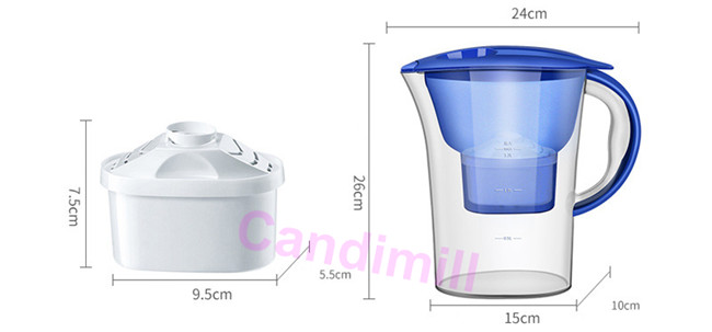 water filter size