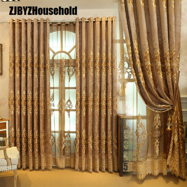 2018 The New Pop Chenille Embroidery Elegant Curtains for Living ...