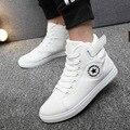 2017 Homens Quentes Sapatos Sapatos Tenis masculino Masculino Moda Primavera Outono lona Botas De Pele Para Homem Casual De Alta Top sapatos de Lona Homens Sapatos