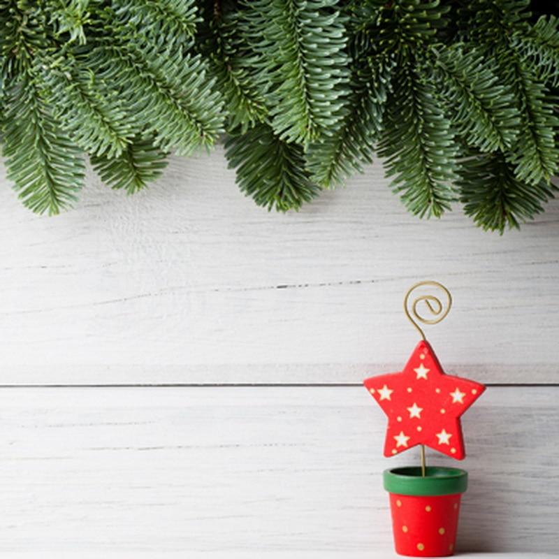 Рождество Сосновые Ветви Красный Бонсай Белый Серый Деревянная Стена Фоны для Фотостудия fotografia fundo da 150 см * 200 см