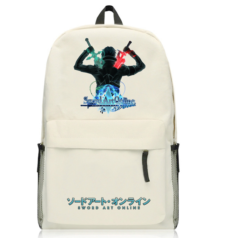 Anime Sword Art Online  Backpack Cartoon Kirigaya Kazuto Asuna Bags Oxford Student School Bag Unisex