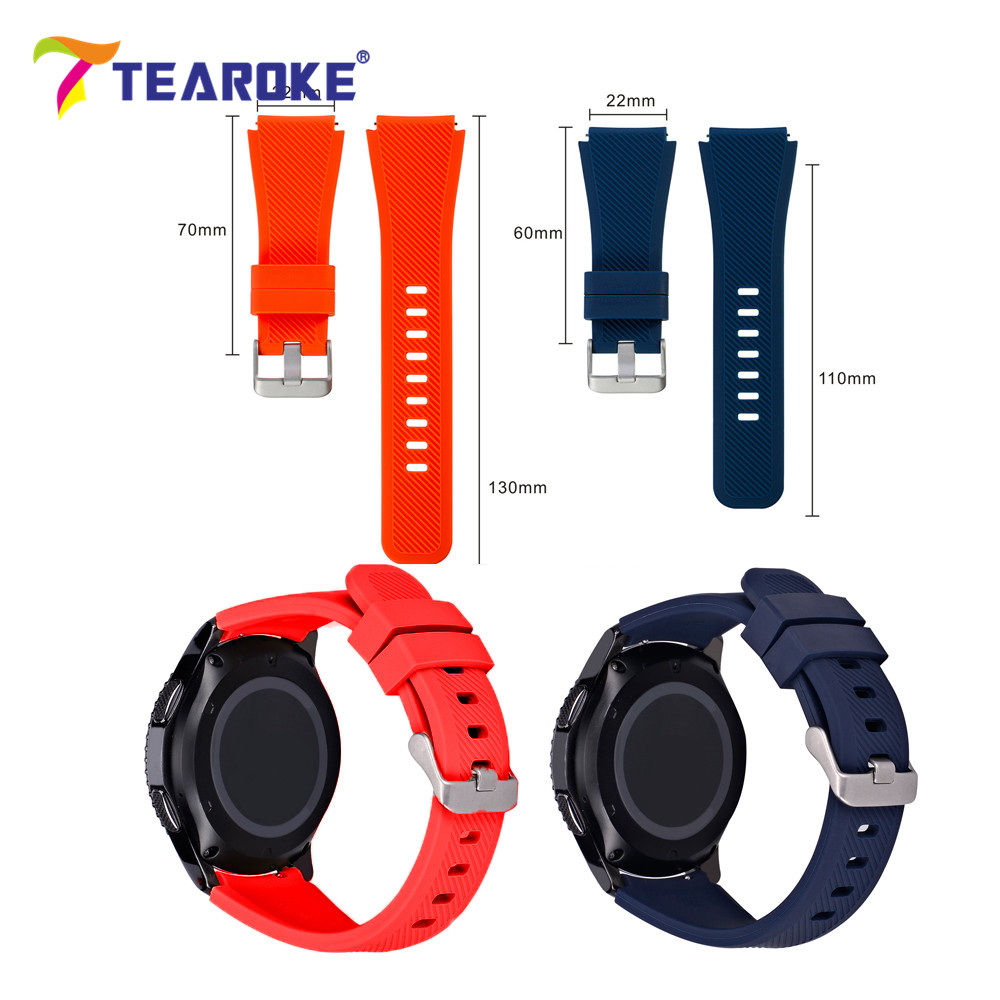 TEAROKE 11 Color Silicone Watchband for Gear S3 Classic/ Frontier 22mm Watch Band Strap Replacement Bracelet for Samsung Gear S3 crested sport silicone strap for samsung gear s3 classic frontier replacement rubber band watch strap for samsung gear s3