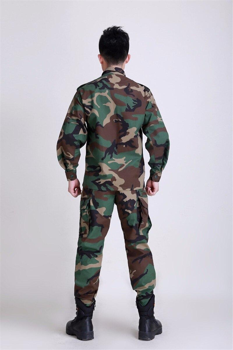 Nouvel ensemble de vêtements militaires tactiques de l'armée BDU, uniforme tactique de Paintball de Camouflage, manteau de Combat et pantalon - 2
