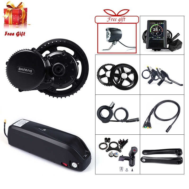 48V 750W Bafang BBS02B Mid Drive Motor Electric Bike Conversion Kit with Lock 12Ah/17.5Ah Bicycle Battery built in Samsung Cell