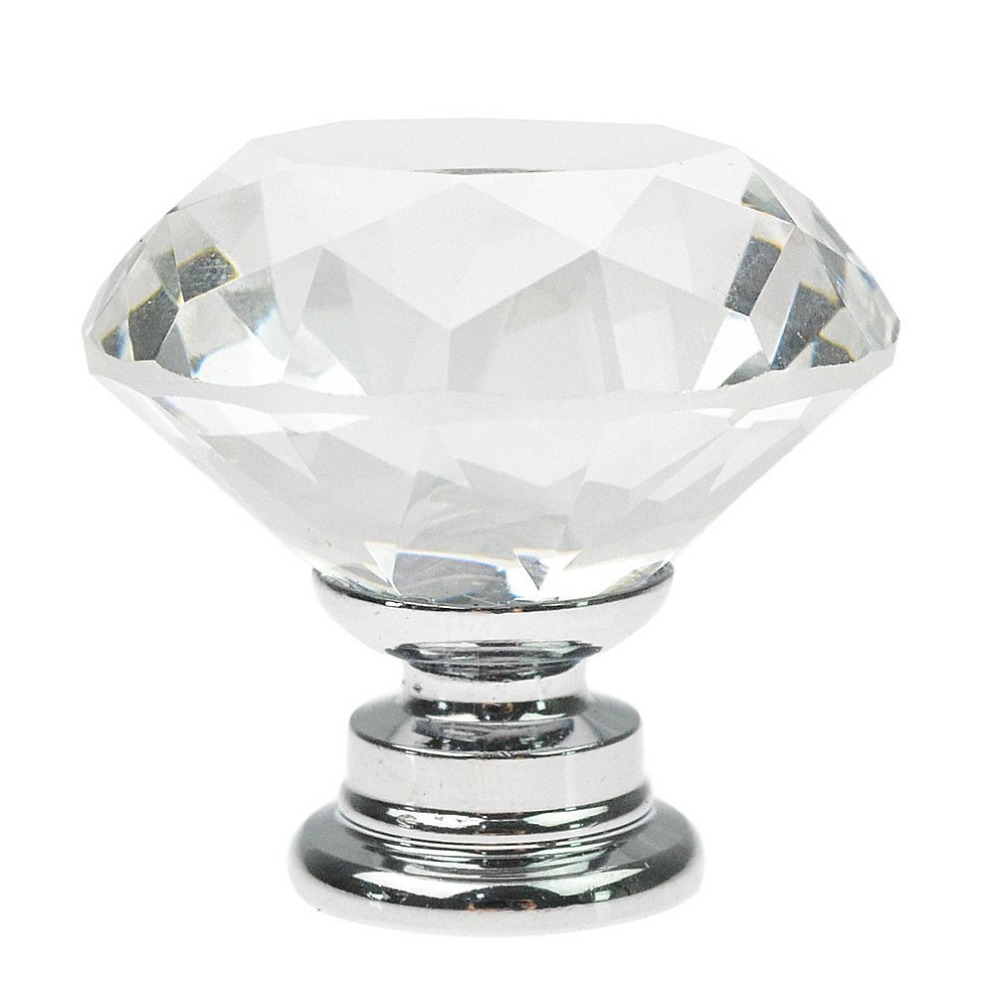 crystal glass kitchen cabinet shape glass cupboard knob 30mm 6310