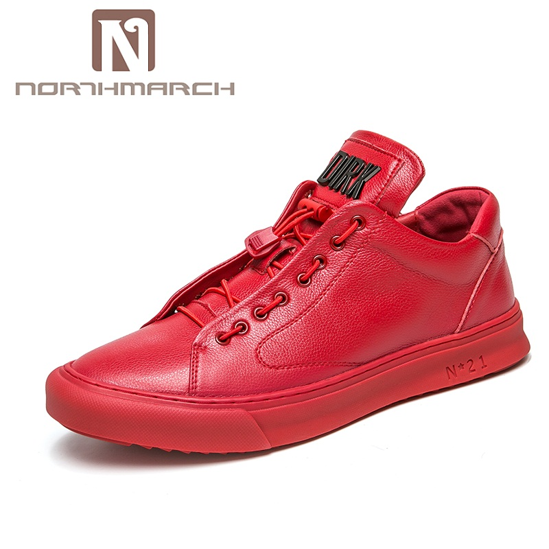 NORTHMARCH Summer Men Shoes Leather Genuine 2018 Fashion Men Loafers Brand Casual Shoes Men Breathable Mens Trainers Schuhe goldenlake brand 2016 new fashion men summer genuine leather shoes men s casual shoes mens oxford shoe for men gl8229