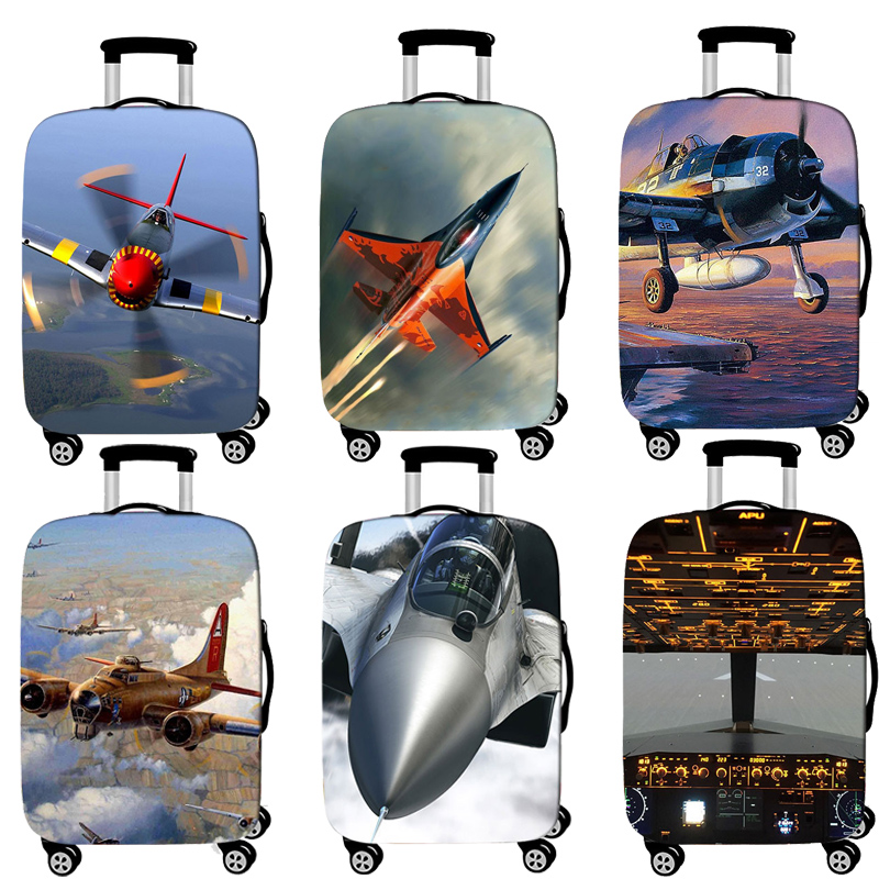 Travel Accessories Luggage Cover Suitcase Protection Baggage Dust Cover Elasticity Fighter Trunk Set Case For Travel Suitcase