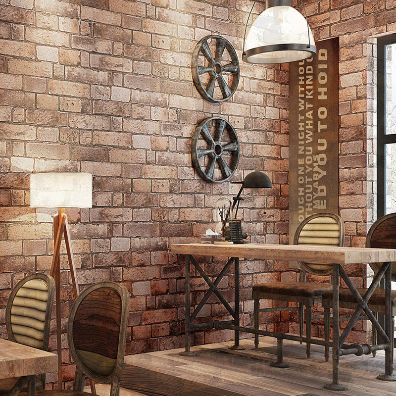 Vintage Wallpaper 3D Embossed Brick Wall Paper Living Room Clothing Store Restaurant Background Wall Covering Stone Wallpaper 3D classical golden pattern soft rolls luxury embossed wallpaper 3d room for livingroom 3d wall paper covering household murals