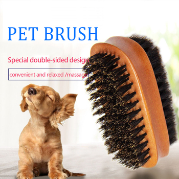 Pet Supplies Pet Brush Dog Brush Double-sided Pig Hair Cleaning Brush Dog Hair Care Bright Hair Cleaning Beauty Tools Cleaning Tools
