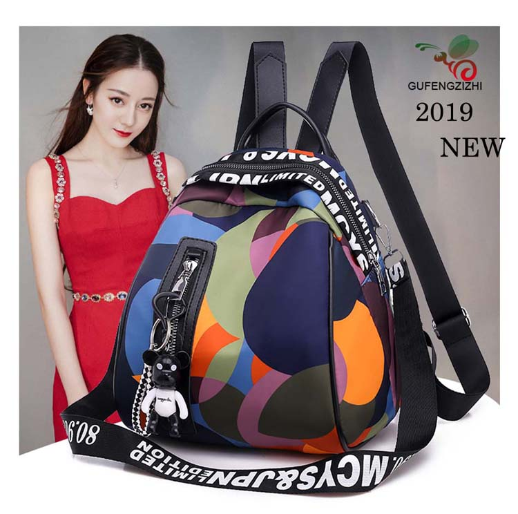 HTB1UJjPaNrvK1RjSszeq6yObFXa6 2019 new ladies bear pendant Multifunction backpack high quality youth color backpack girl casual large capacity Bags for women
