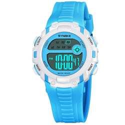 Модные детские Студенческие светящиеся Водонепроницаемый Круглый цифровые наручные часы подарок