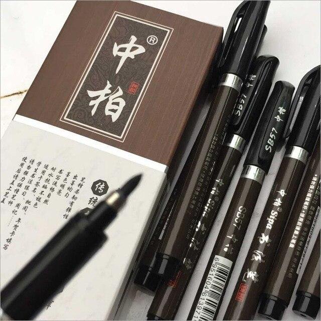 3 pz/lotto Multifunzione Pennello Penna di Calligrafia Penna Marcatori Arte di Scrittura Scuola Forniture per Ufficio di Cancelleria Studente di Trasporto libero 4
