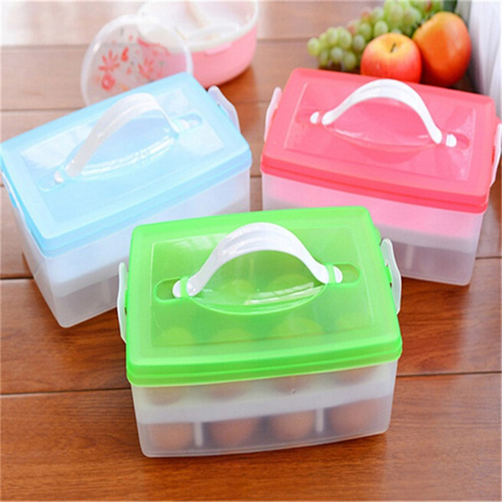 Portable Two Layer Plastic Food Chicken Egg Holder