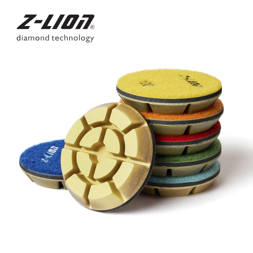 Z Leap 3 Diamond Marble Floor Polishing Pad Set 7pcs Wet Use