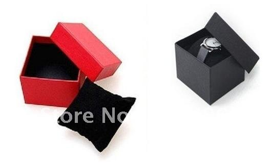 Free shipping 12pcs watch box with pillow , 8x8x6cm, jewelry gift packaging box
