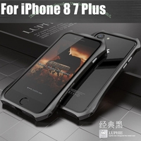For IPhone7 Original Luphie Luxury BatMan Aluminum Metal Frame Cover Case For For IPHONE 7 7