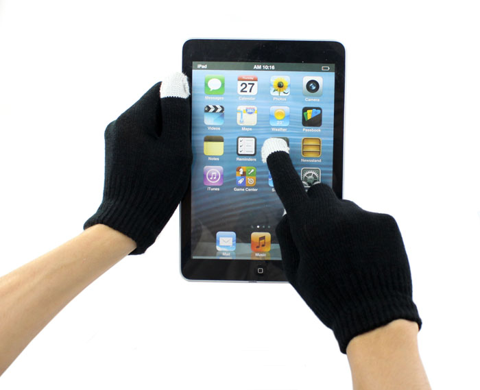 Fashion touch screen Gloves black mobile phone touch Gloves smartphone driving glove gift for men women winter warm gloves Dec15