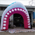 outdoor fantastic 6M infaltable shark arch for advertising,event using inflatable ocean sea fish arch toy