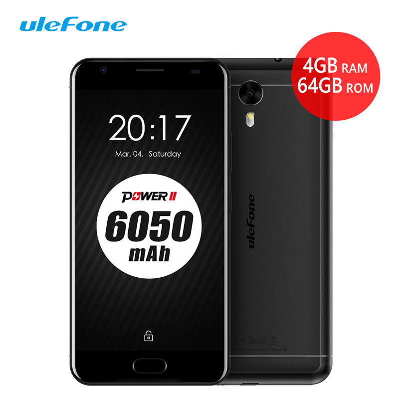 Ulefone Power 2 Smartphone 5 5 FHD Octa Core 4G 64GB Android 7 0 6050mAh Dual