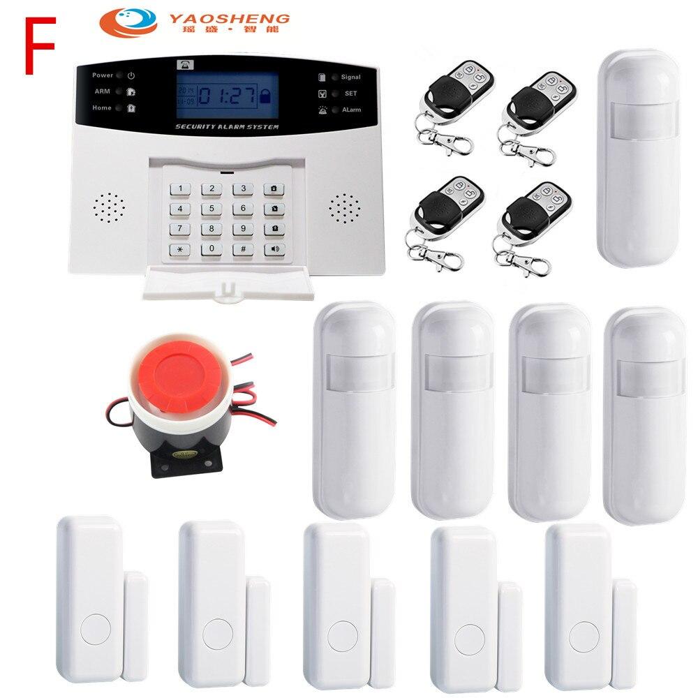 433Mhz sans fil à la maison GSM système d'alarme de sécurité IOS Android APP contrôle avec capteur de détecteur de mouvement