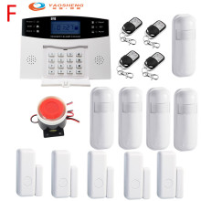 433Mhz Wireless Home GSM Security Alarm System IOS Android APP Control with Metion Detector Sensor free shipping ios android app control wireless home security gsm alarm system intercom remote control autodial siren sensor kit
