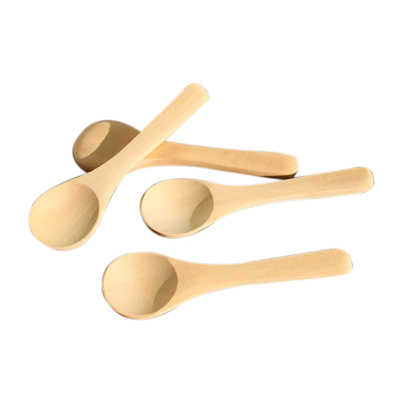 100Pcs Mini Nature Wooden Home Kitchen Cooking Spoons Tool Scooper Salt Seasoning Honey Coffee Spoons|Coffee Scoops| |  - title=