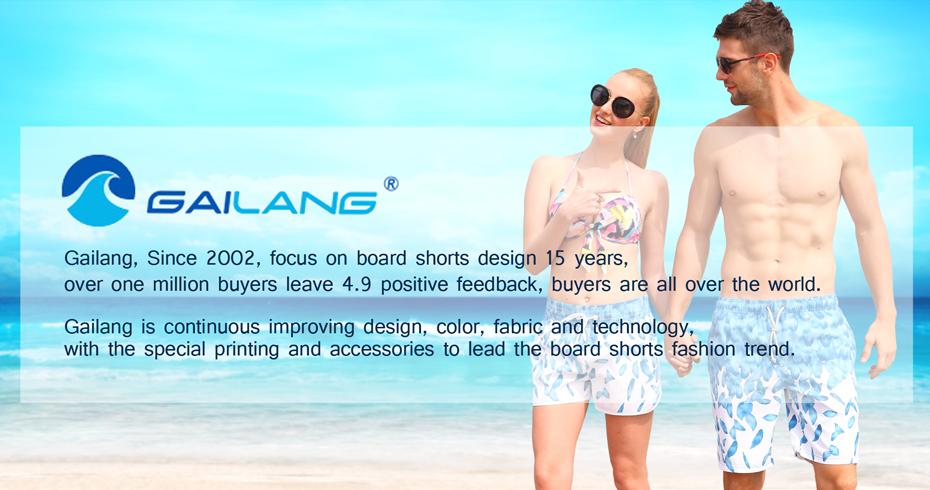 Gailang Brand Women Beach Board Shorts Sun Casual Active Shorts Jogger Sweatpants Woman Quick Drying Boxer Trunks Shorts Fashion 21