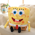 45CM Sponge Bob Baby Toy Spongebob And Patrick Plush Toy Soft Anime Doll For Kids Toys Cartoon Figure Cushion high quality 1pcs
