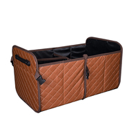Collapsible Folding PU Leather Trunk Organizer Car Storage Auto Accessories Car styling Organizer For Car Trunk box Storage Bag