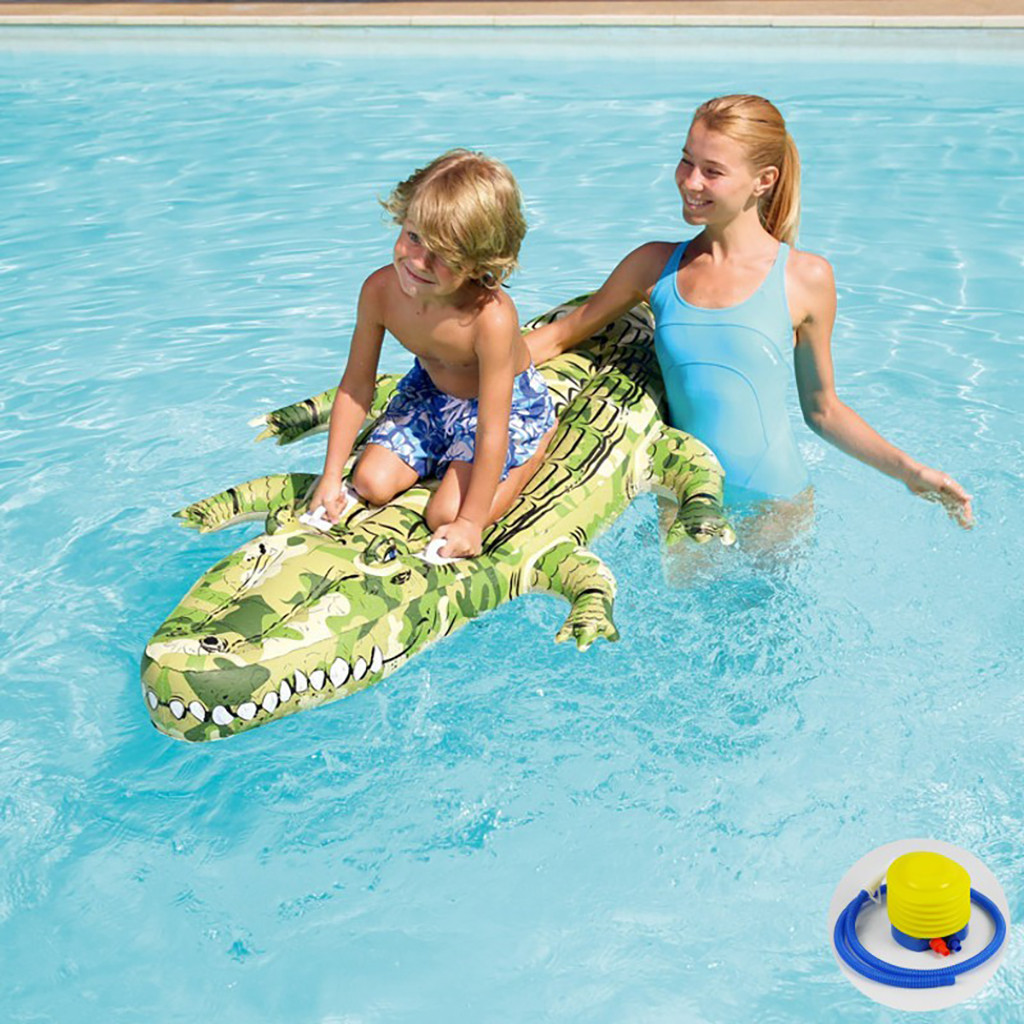 Water inflatable toy pool turtle floating row inflatable bed Adult children animal mount swimming ring PVC material With grip