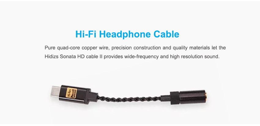 Hidizs Sonata Ii Hd Usb Dac Hi Res Type C To 3 5mm Headphone Amplifier Adapter For Android Phone Pc Mac Audio Cable Aliexpress