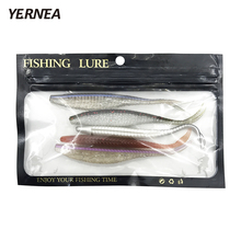 Yernea 5pcs/lot 6.9 g 13 cm 5 Color Optional Two-color Soft Bait Fishing Lure Manual Silicone Imitation Bionic Road Sub