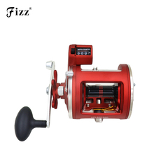 High Strength Aluminium Fishing Line Counter Trolling Fishing Reels 12 Bearing Drum Reel 999ft Depth Finder Counter Meter Gauge