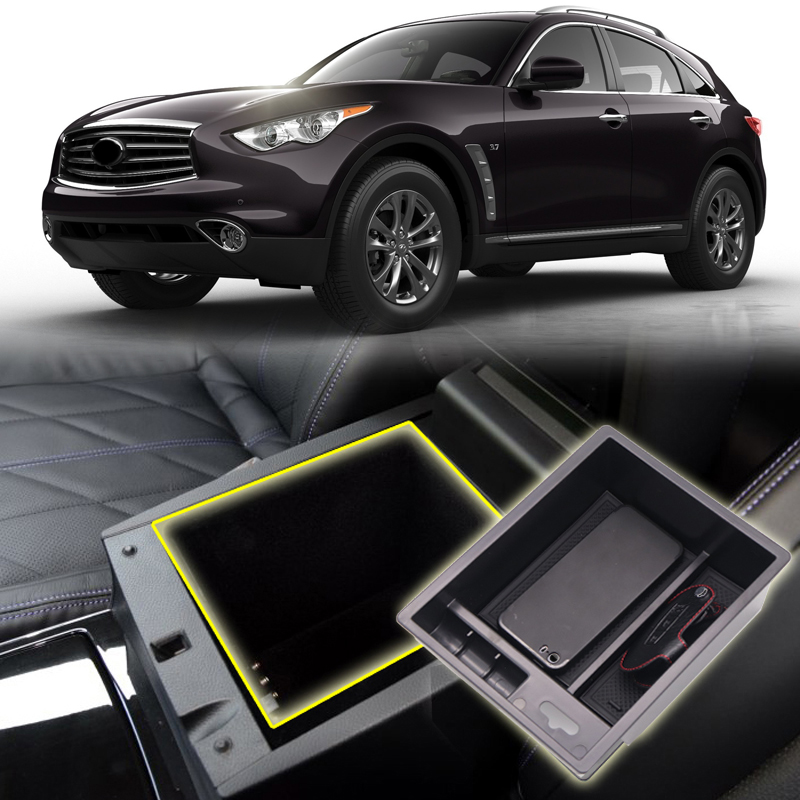 Detail Feedback Questions About For Infiniti Qx70 Qx80 2017 Interior Black Glove Central Armrest Box Organizer Storage Car Styling Accessories On