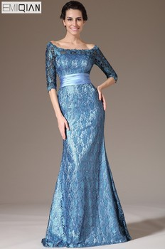 New Mother of the Birde Dress Off-Shoulder Half-Sleeves Lace Formal Evening Dress