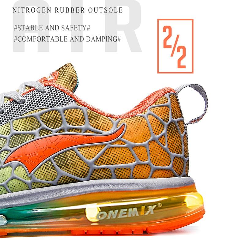 Купить с кэшбэком ONEMIX Men's Running Shoes Big Size Outdoor Athletic Breathable Mesh Zapatillas Hombre Sport Sneakers Jogging Shoes Size 39-47