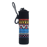 500ml Neoprene Glass Cup Water Bottle Sleeve Hook Strap Insulated Cartoon Protective Sleeve Bag Portable Tote