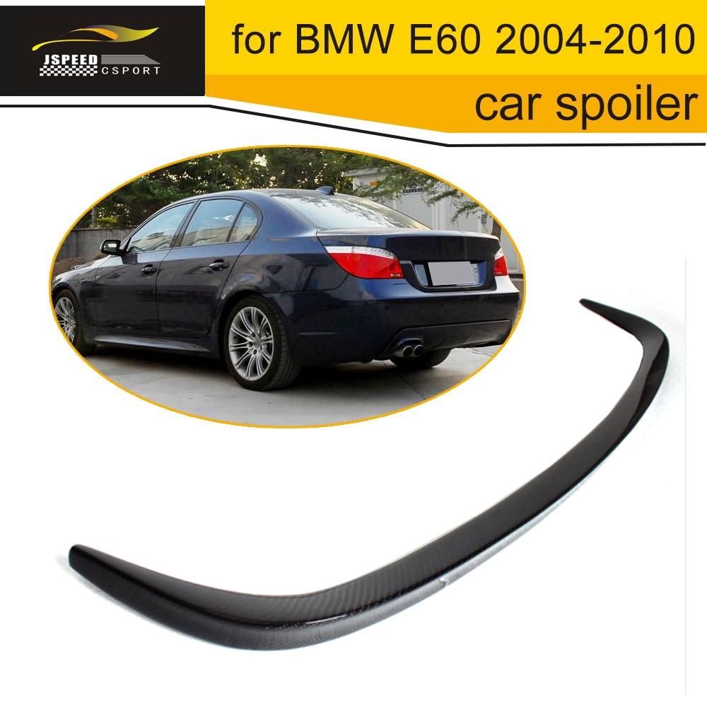 Car-Styling Carbon Fiber auto car duckbill spoiler for BMW E60 2004-2010