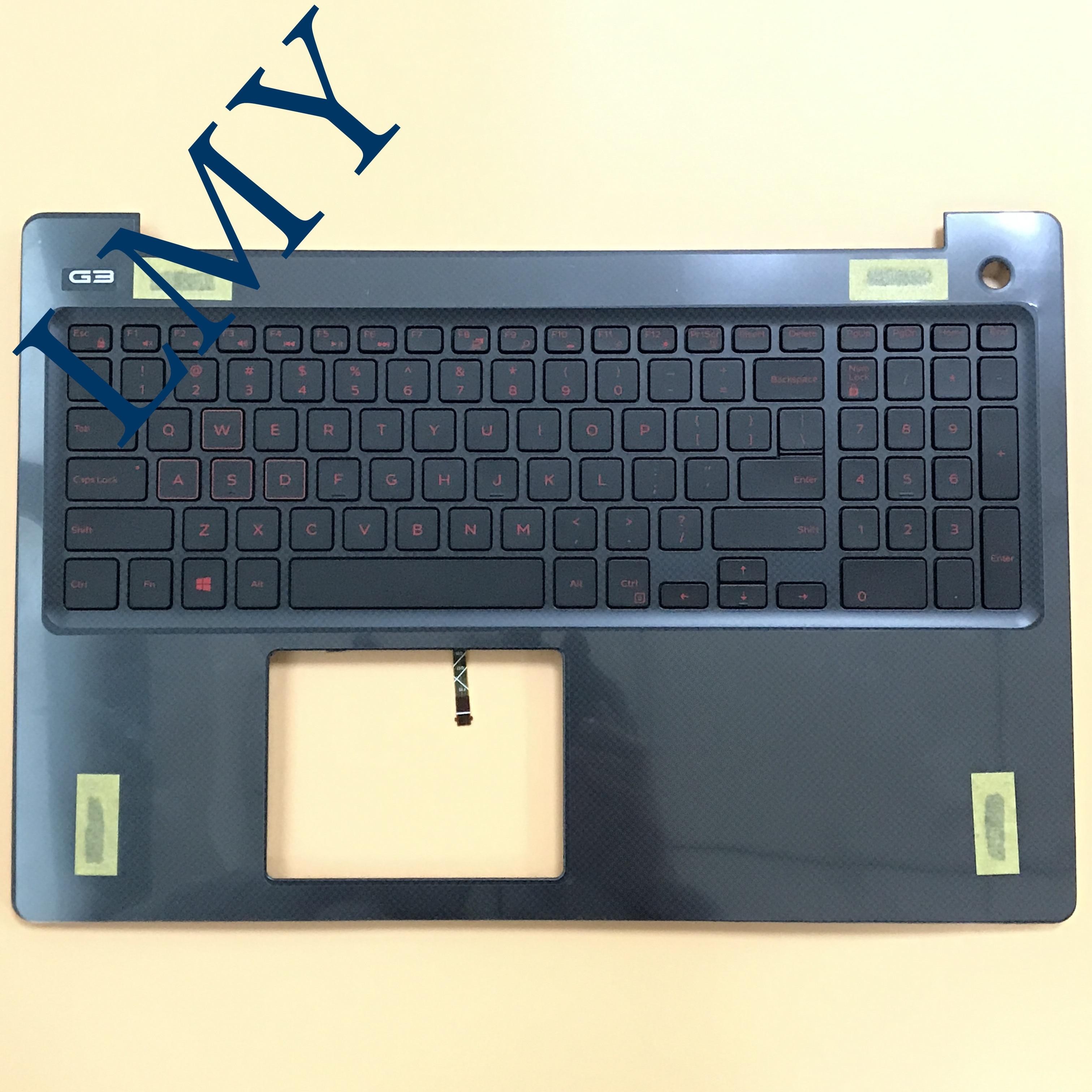 Tout nouveau boîtier de clavier d'ordinateur portable pour DELL GAMING15-3000 G3 3579 G3-3579 ordinateur portable US clavier repose-main avec clavier rétro-éclairé rouge