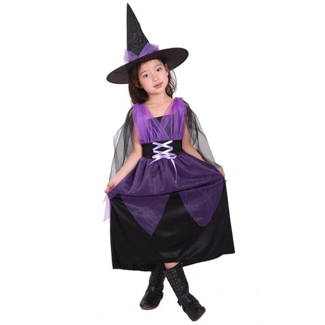 Online Shop VASHEJIANG Children Witch Halloween Costumes For Kids ...
